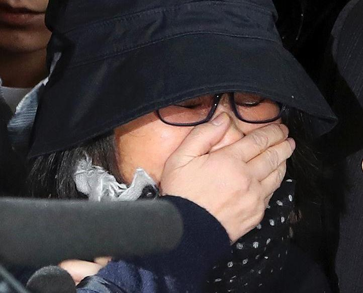 崔順實首爾檢察廳接受調查