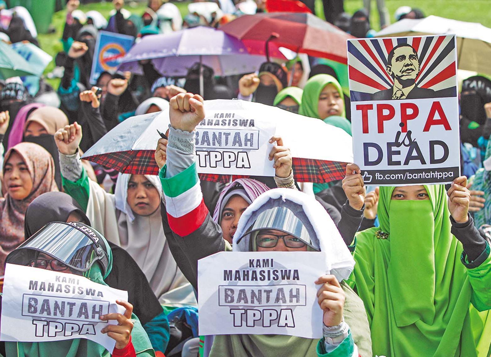 抗議加入TPP