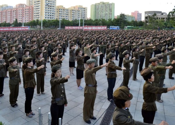 朝鮮350萬人要求參軍對抗美國