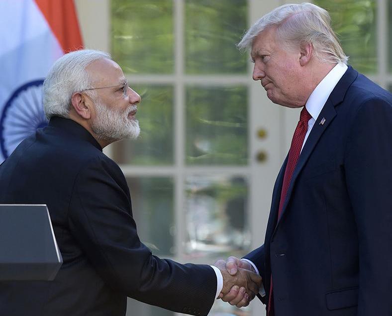 印度總理訪美首晤特朗普