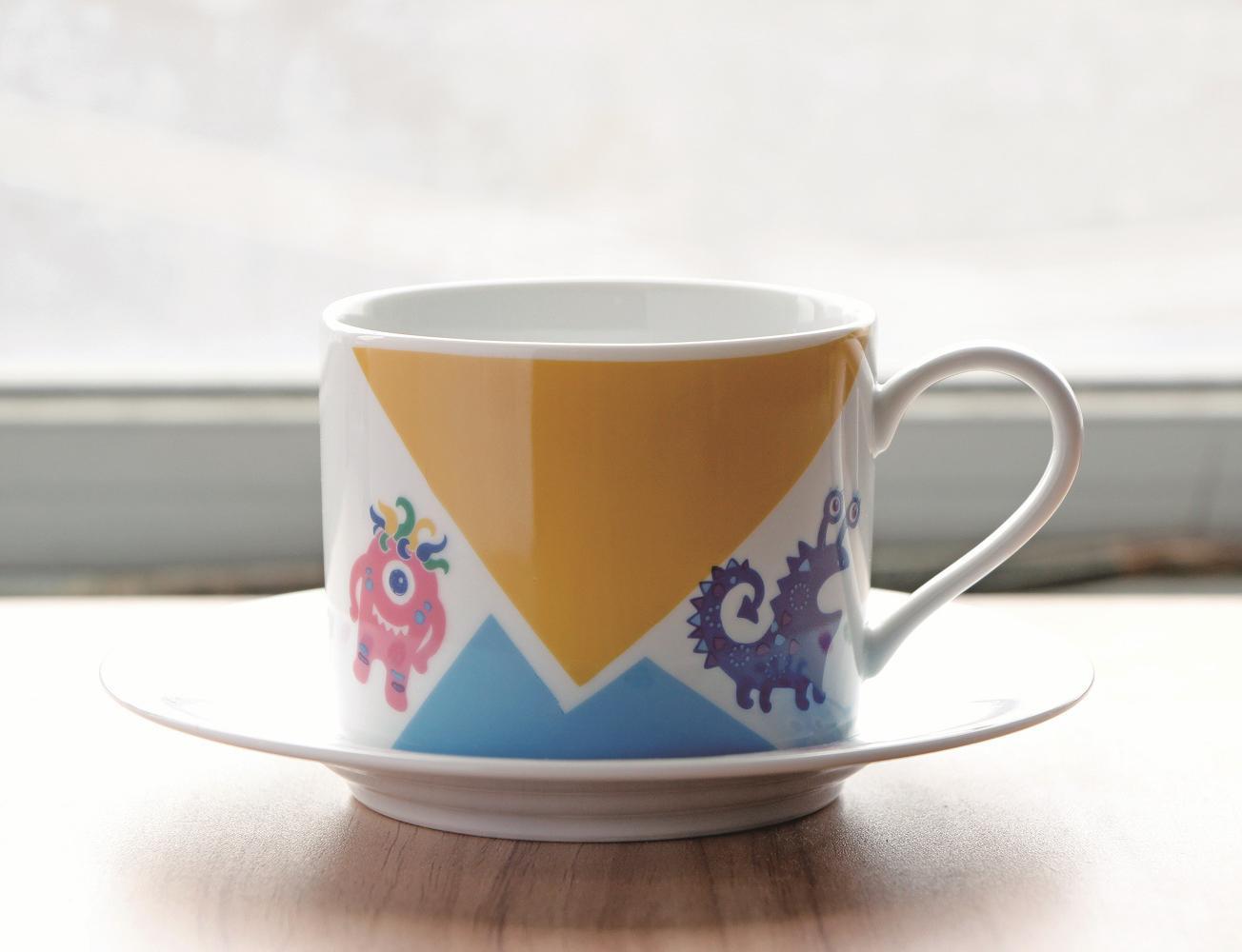 陶瓷彩繪咖啡杯