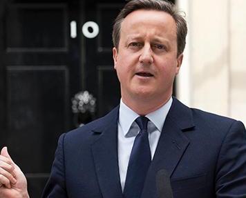 卡梅倫宣布十月將退任首相