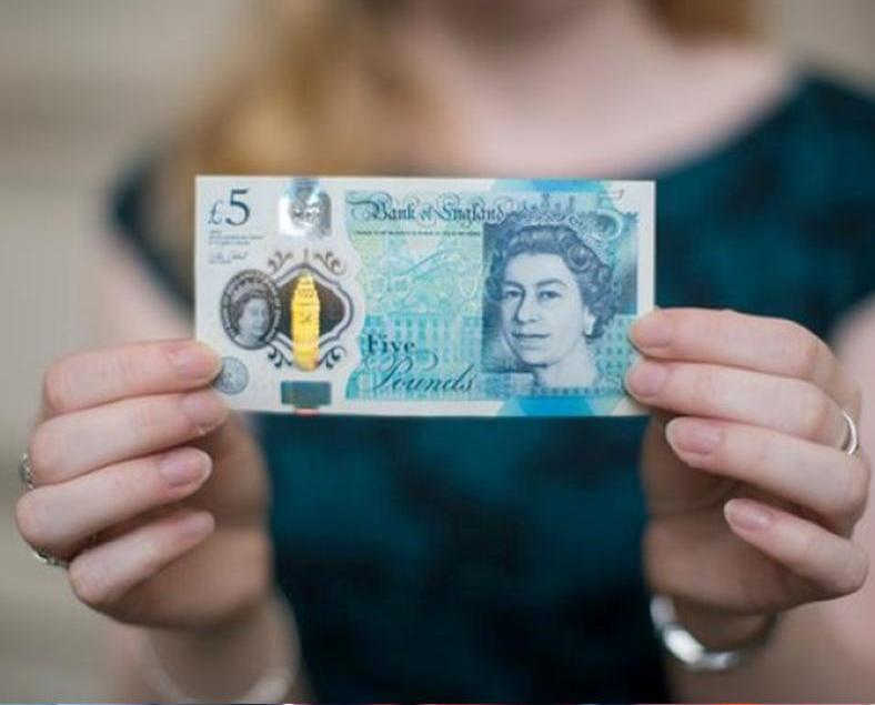 英國五鎊膠鈔流通使用