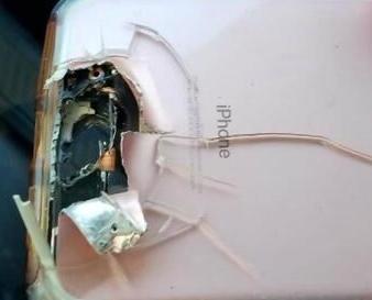 iPhone手機替女子擋下子彈