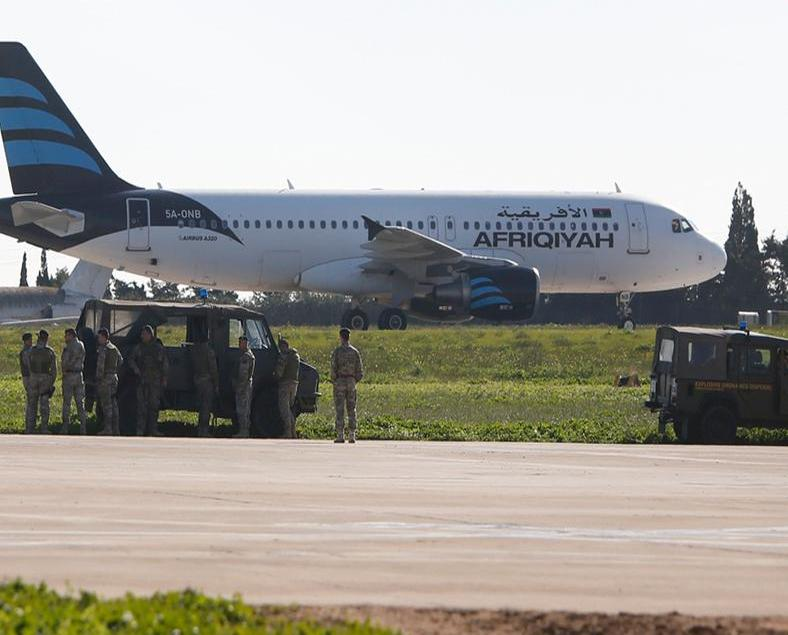 利比亞一客機遭騎劫到馬耳他