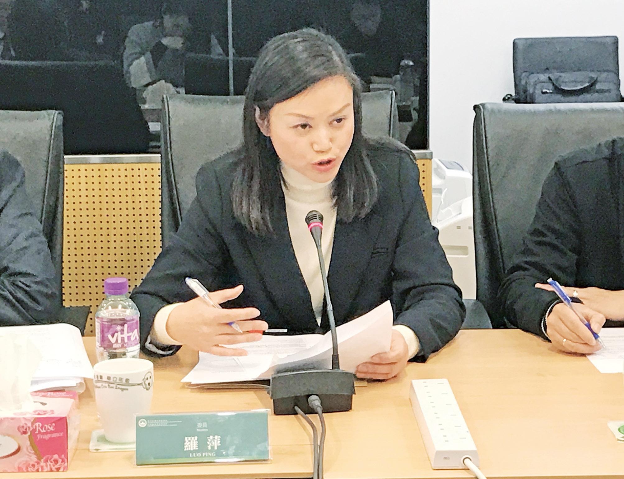 羅萍促政府監管環境及運輸