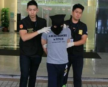 涉案韓籍男子被捕