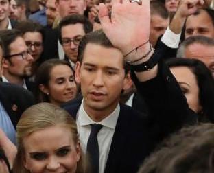 黨魁庫爾茨宣布勝選