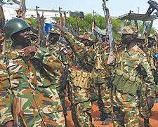 南蘇丹77名士兵被判刑