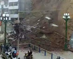 甘肅斜坡塌方增至一死兩傷
