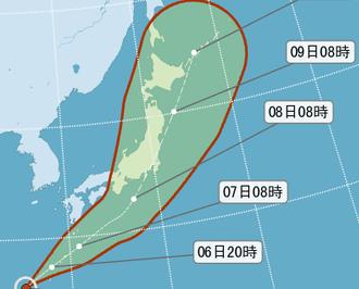日本南部地區料明將有暴雨