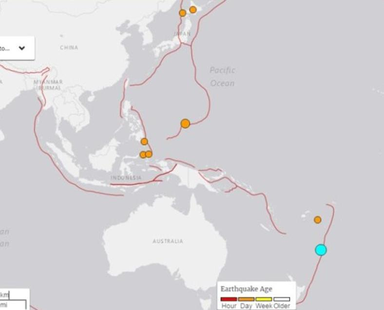 紐西蘭對出海域發生6.3級地震