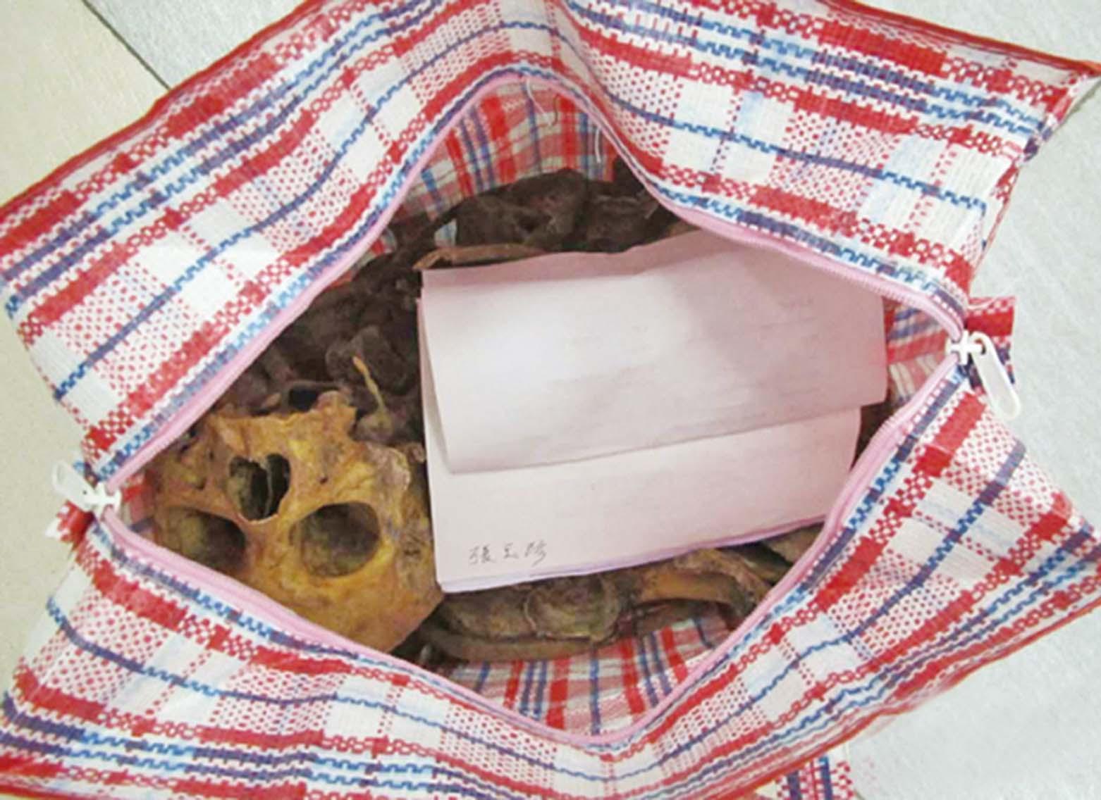 膠袋內藏骸骨「顯靈」物歸原主
