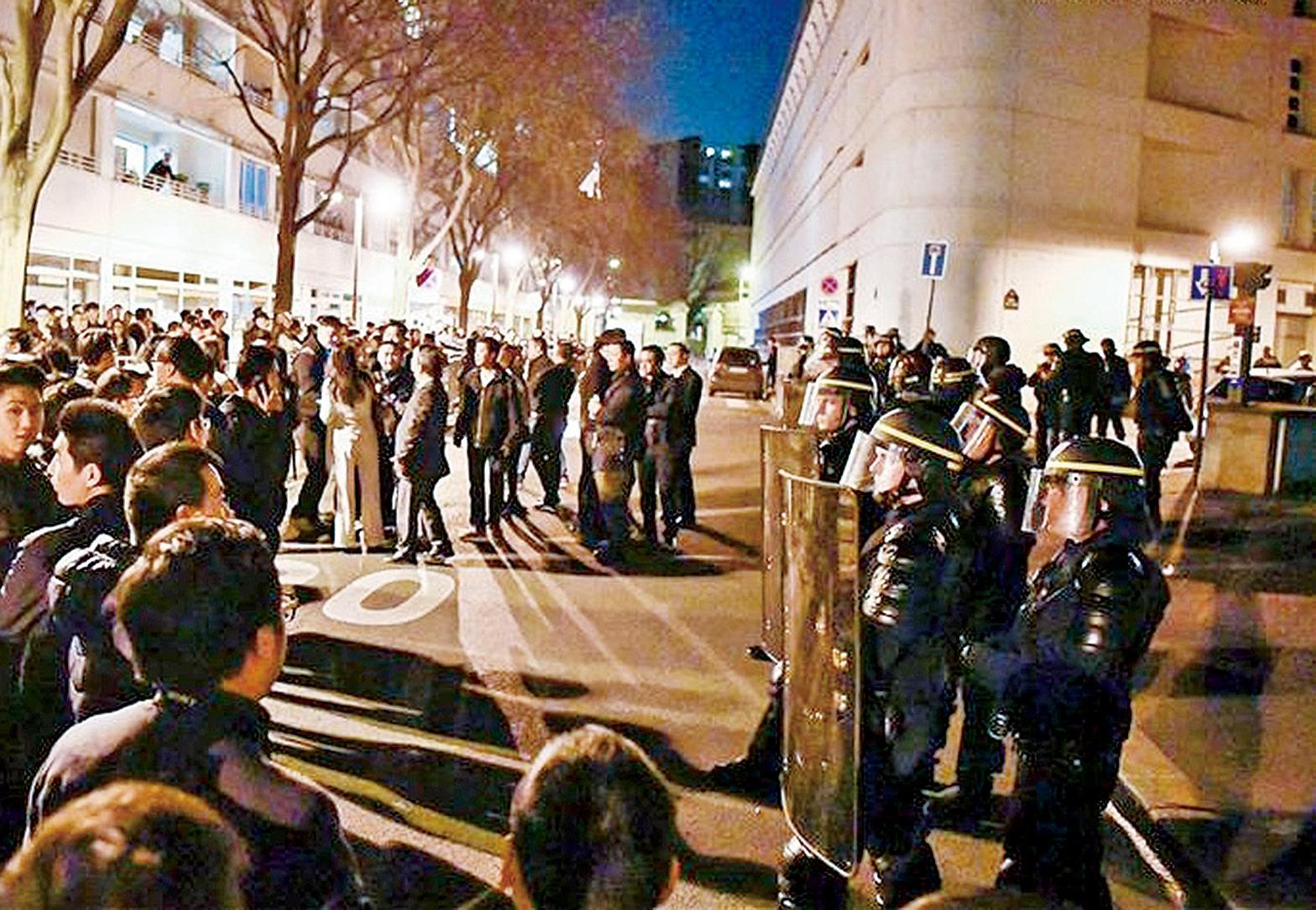 示威變騷亂35人被捕