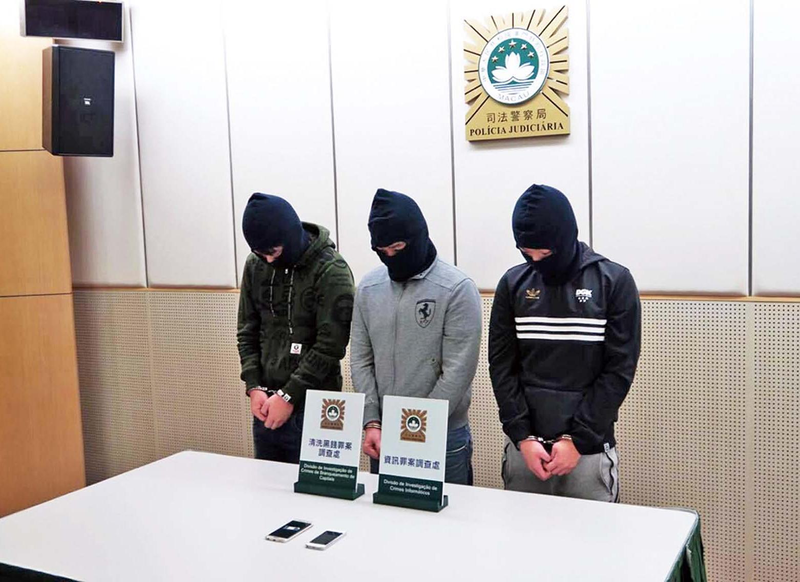 三男子涉洗黑錢被捕