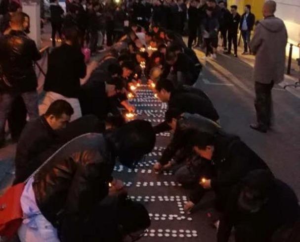逾百華人巴黎警署抗議