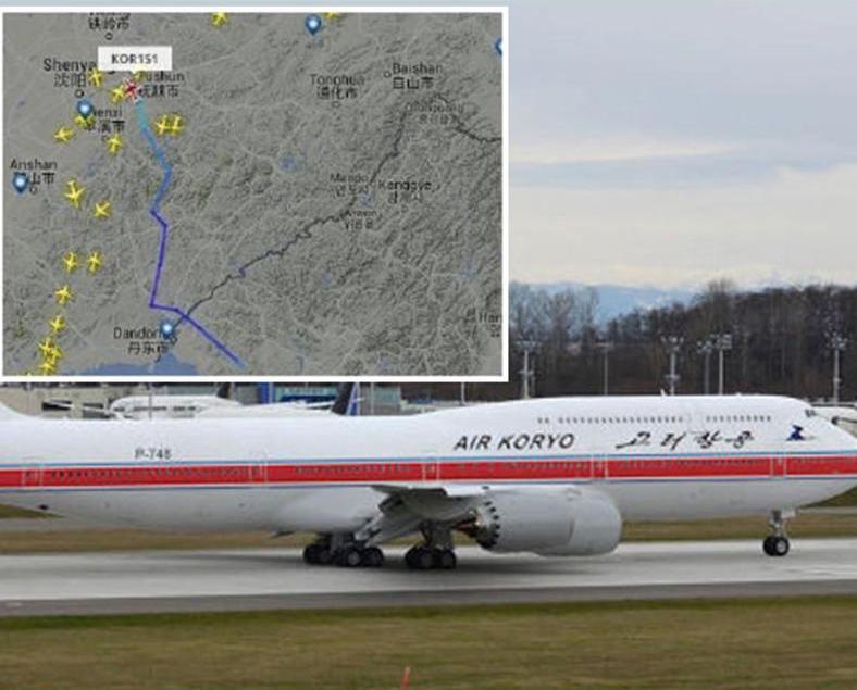 朝鮮飛北京客機中途起火