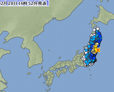 日本福島發生5.6級地震