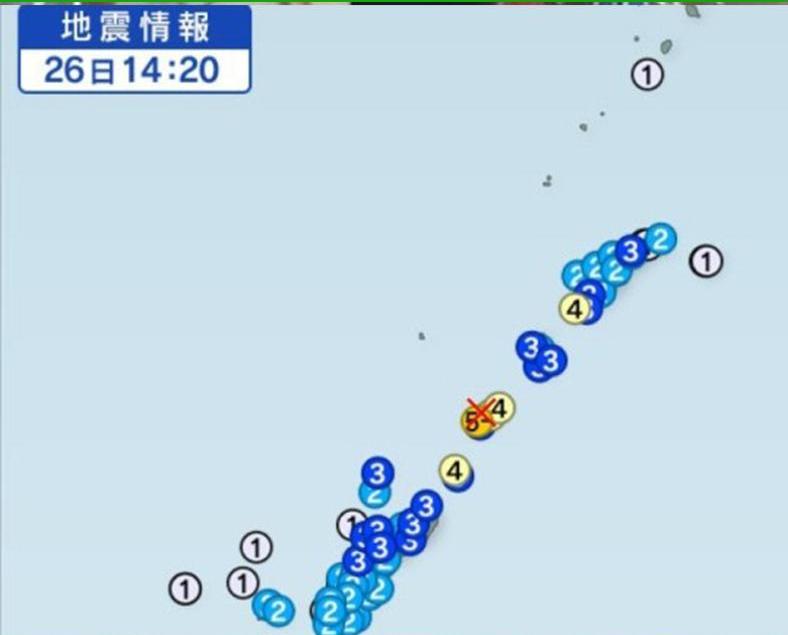 鹿兒島發生5.7級地震