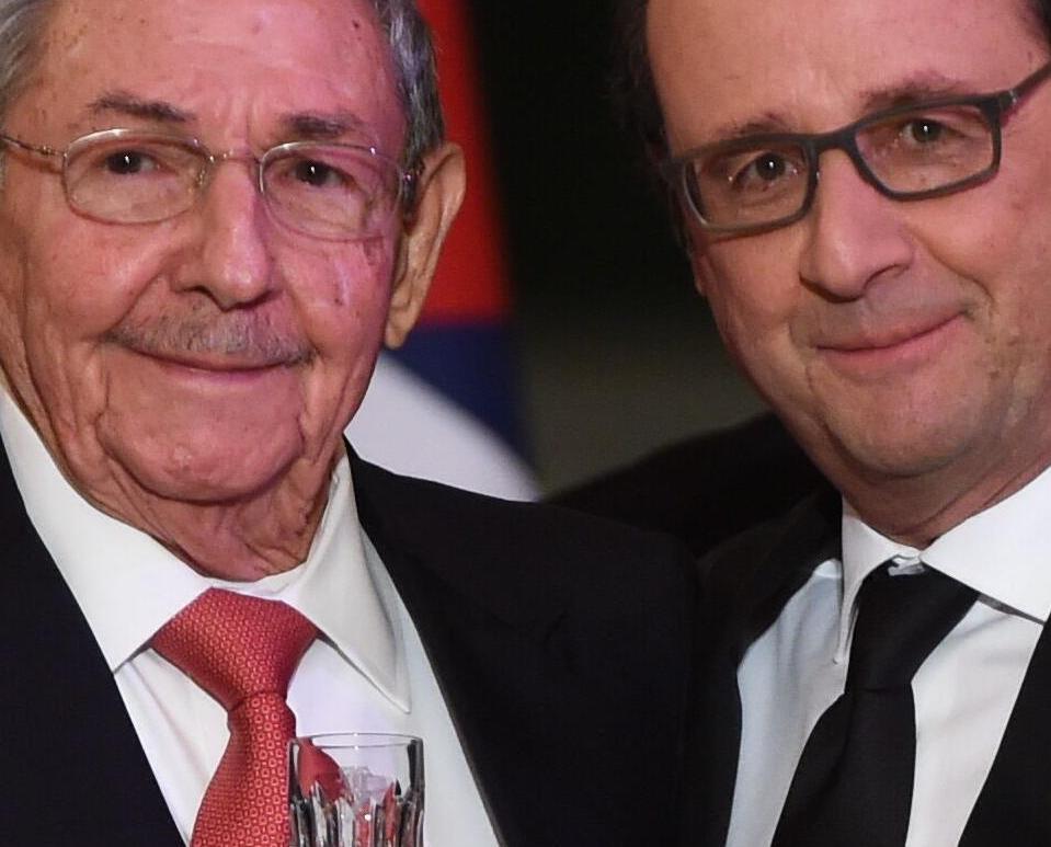 古巴領袖勞爾訪問法國晤奧朗德