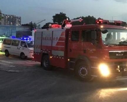廣州地盤天秤倒塌七死兩傷