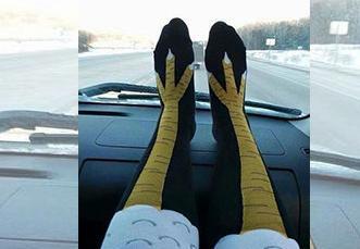 台女曬「超顯瘦」絲襪