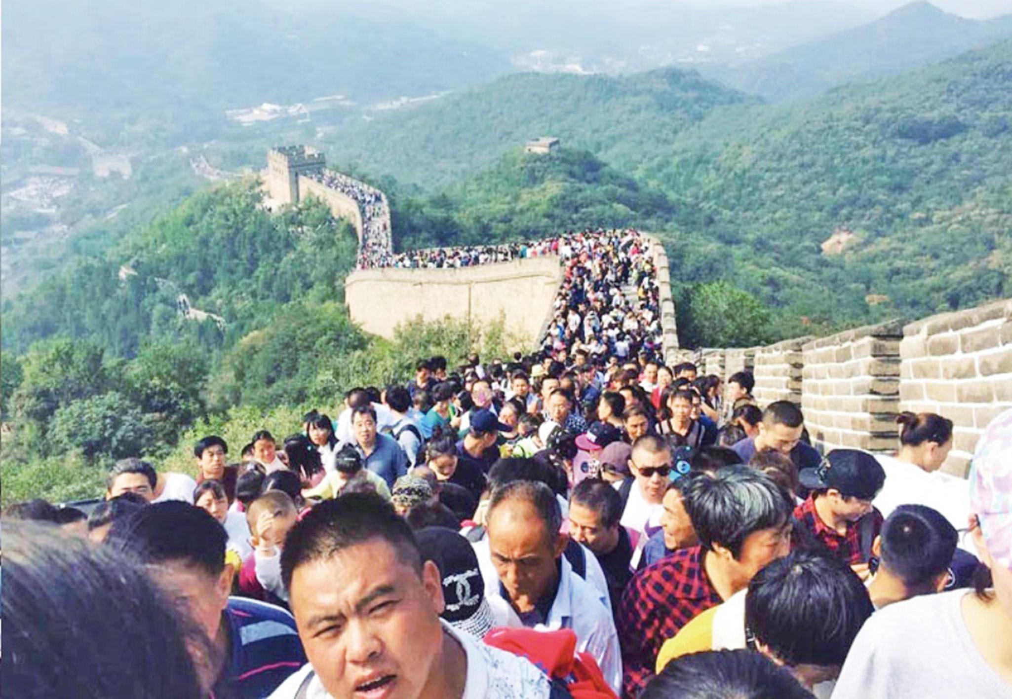 國慶黃金周各地遊客爆棚