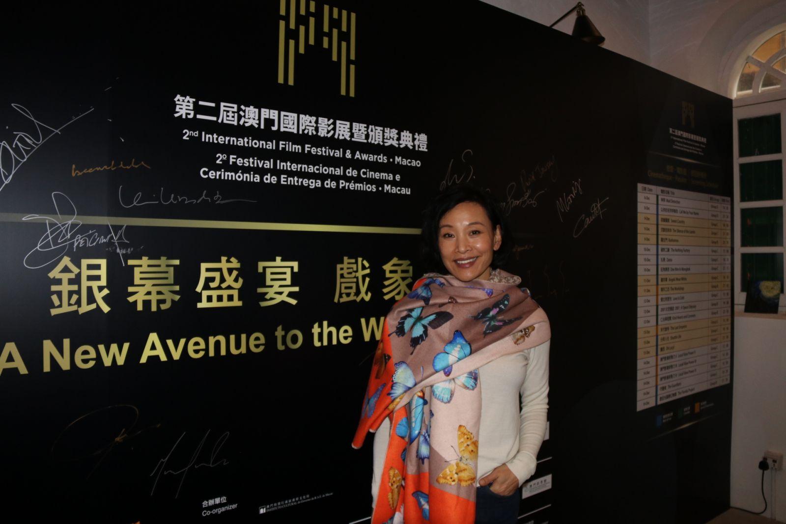 著名美籍華裔演員陳沖登台