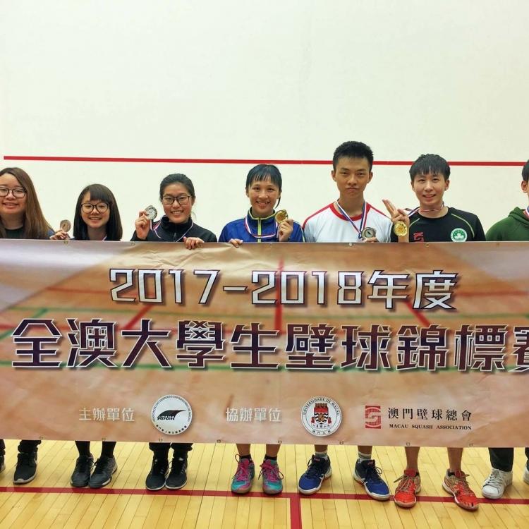 溫璟熙廖桂芝衛冕大學生壁球賽錦標
