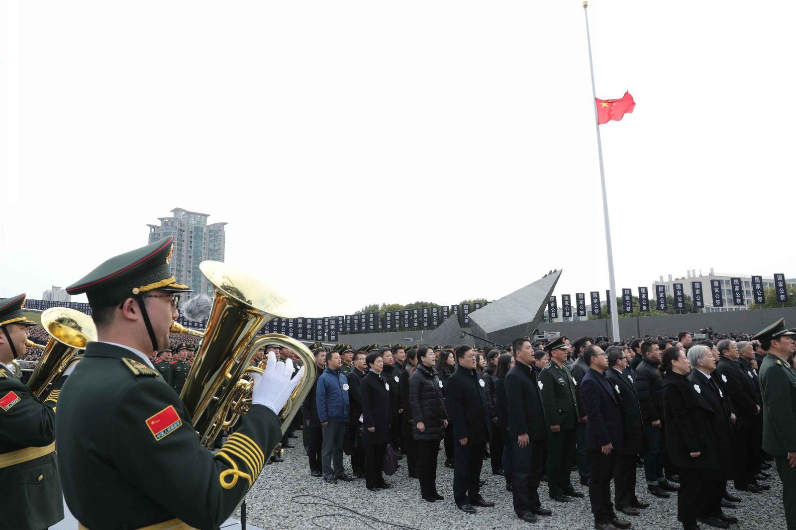 習近平出席國家公祭儀式