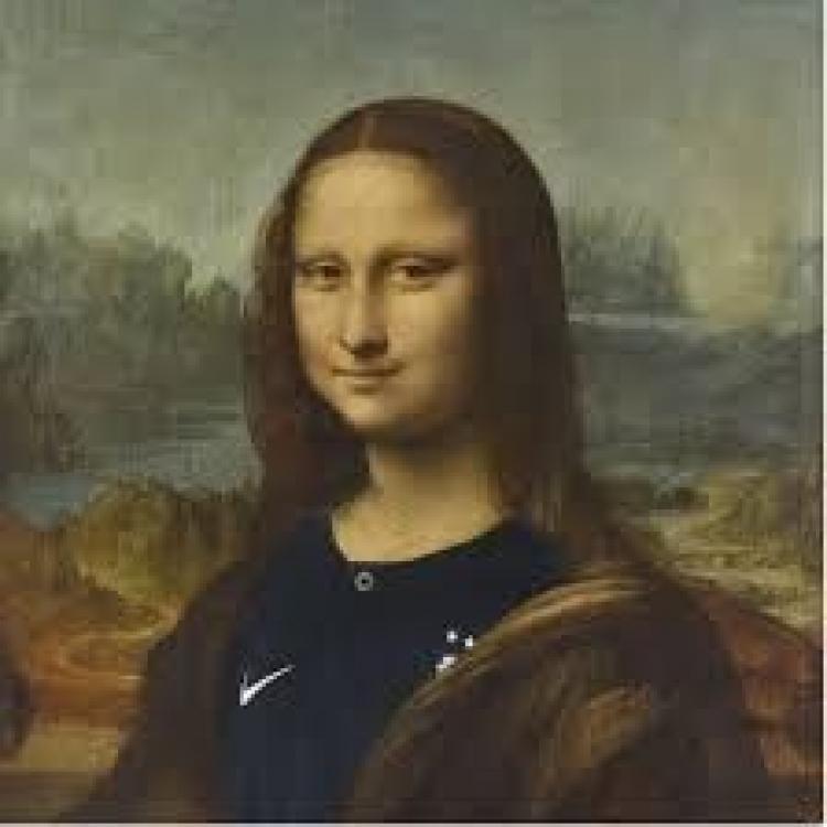 蒙娜麗莎披上法國球衣