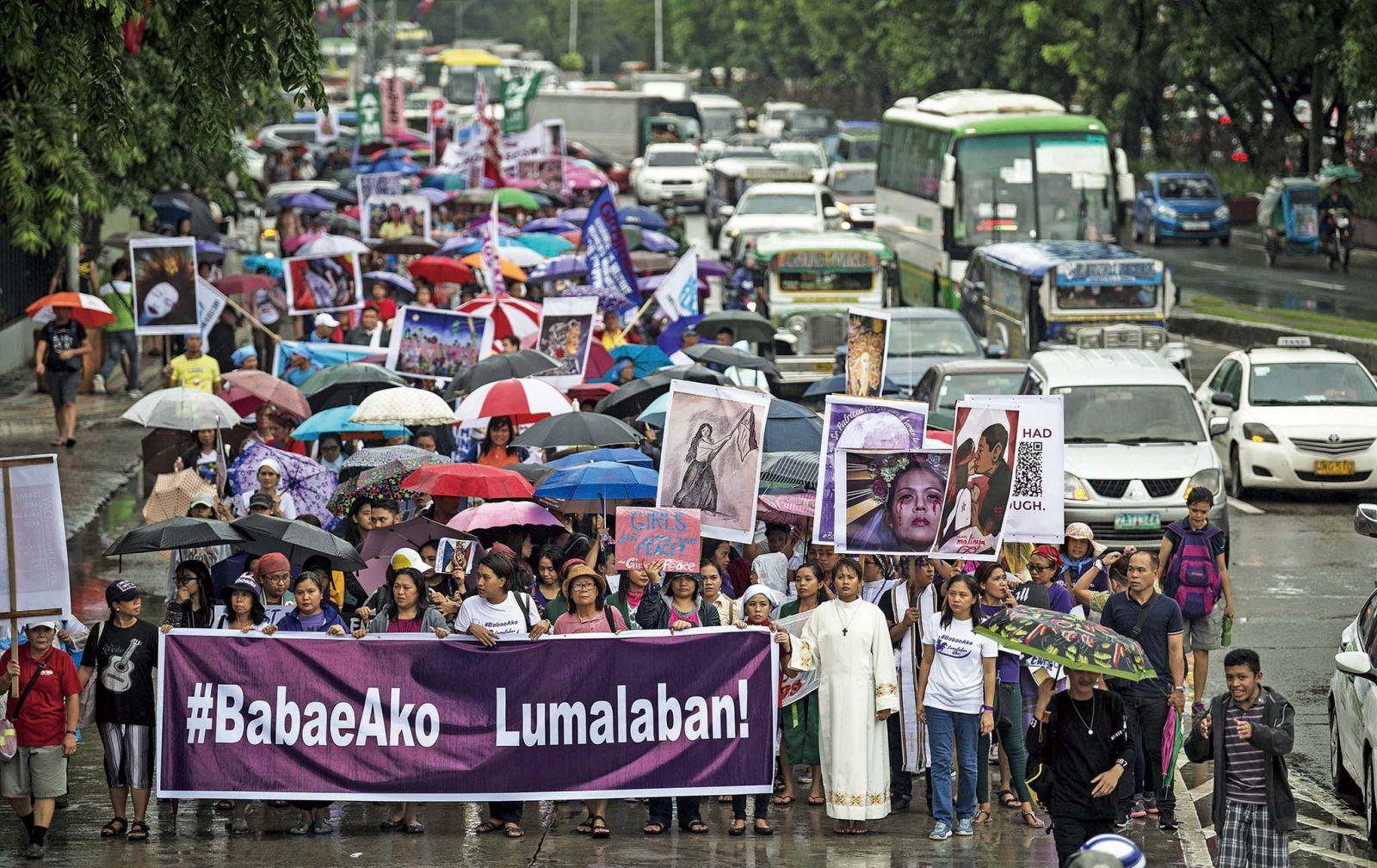 馬尼拉爆反迪泰特示威