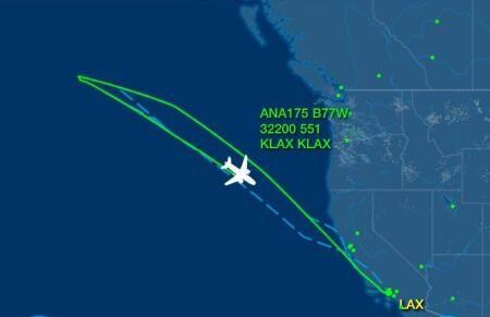 全日空客機飛四小時後折返