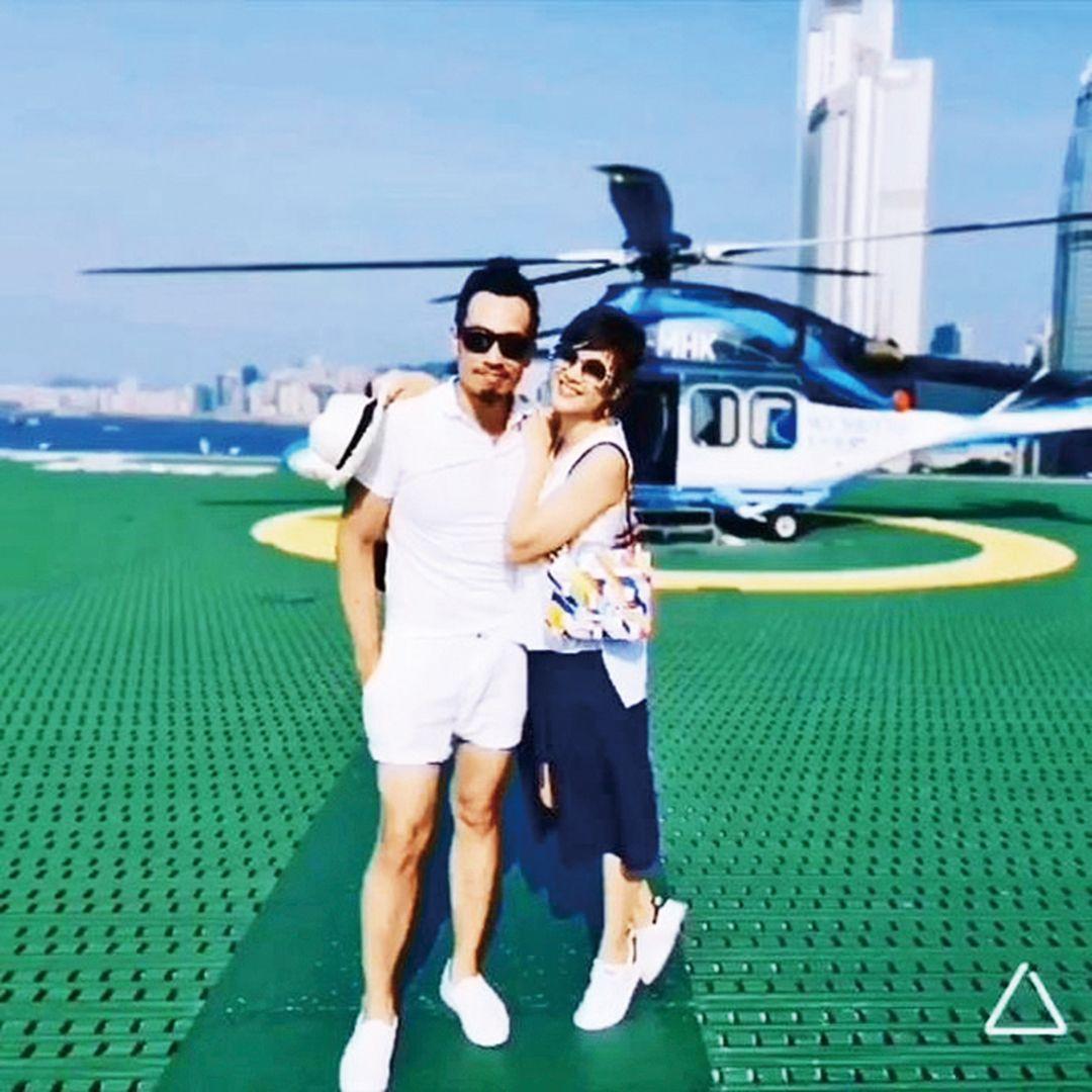 陳豪帶陳茵媺 浪漫遊直升機河