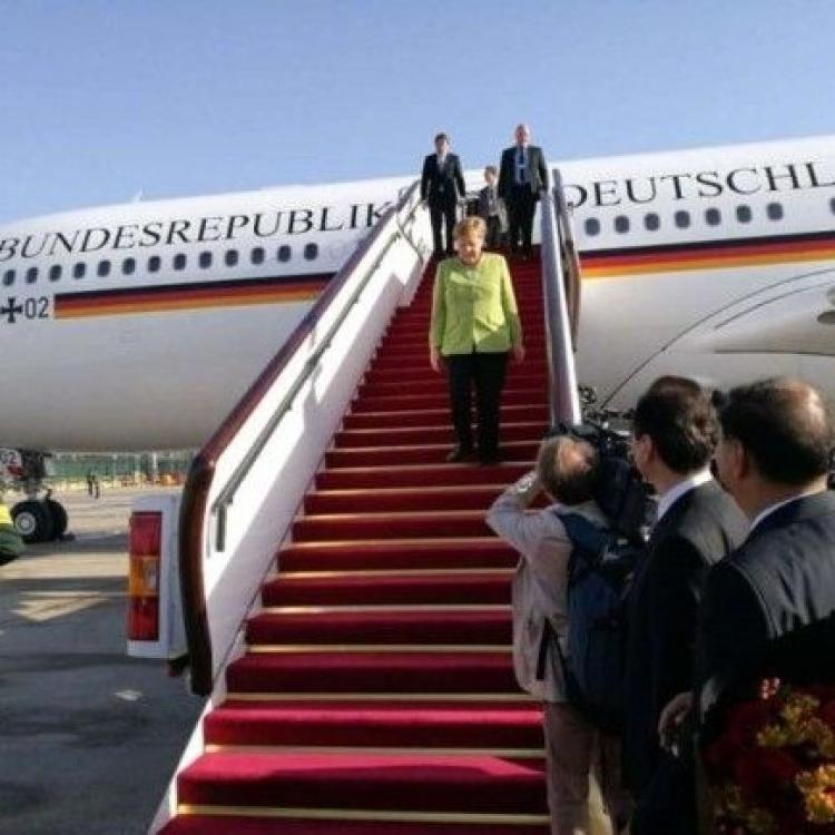 默克爾抵北京訪華兩日